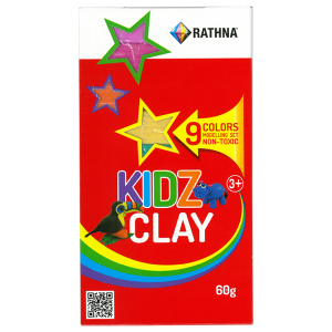 Rathna Kidz Clay Strips 60g - 9 Colors Pack