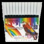 Platignum Water Colouring Pen - Black 12 Pack