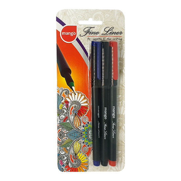 Fine Liner - Assorted (Blister 3 Pen Pack)