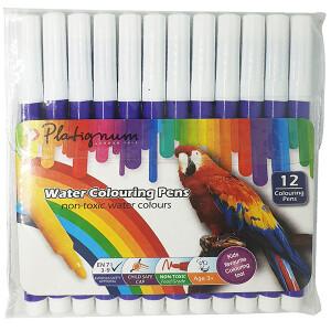 Platignum Water Colouring Pen - Violet 12 Pack