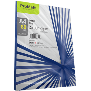 ProMate Colour Paper Oxford Blue A4-80 GSM 250 Sheets Pack