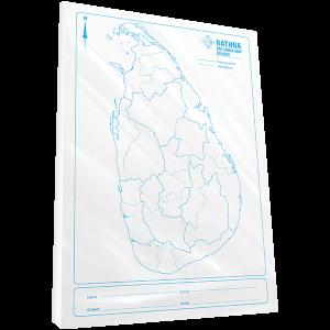 Rathna Sri Lanka Map Divided - 100 Sheets Pack