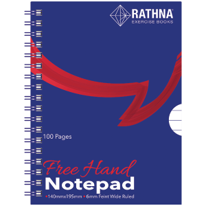 Rathna A5 Blue Cover Spiral Pad 100Pgs