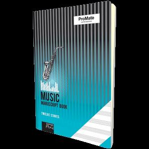 ProMate A4 Music Manuscript Book 32 Pgs