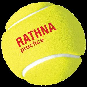 Rathna Practice Tennis Balls - 4 Balls Pack