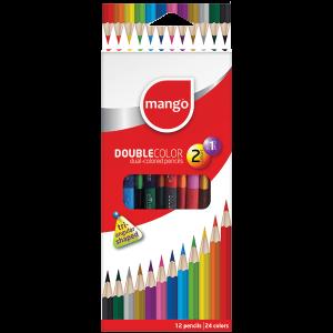 Double-Colour Pencils - 24 Colours Pack