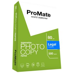 ProMate Photocopy Paper 80GSM Legal 500 Sheets Pack