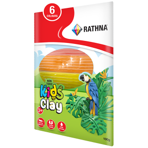 Kidz Clay Strips 6-Colour 100G Pack